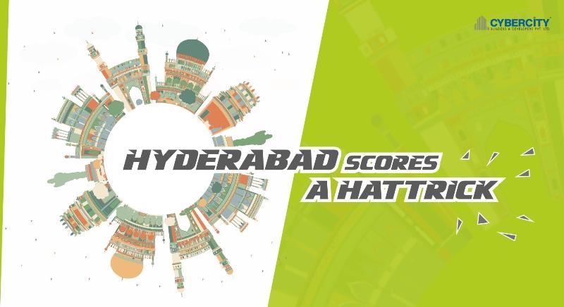 Hyderabad scores a Hattrick!