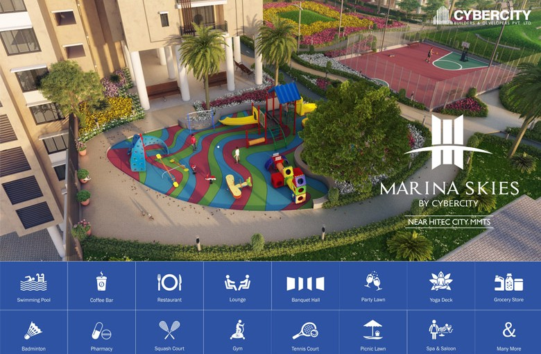 FOR AMENITIES, SKY IS NOT THE LIMIT FOR MARINA SKIES:
